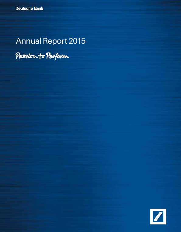 Deutsche Bank   annual report