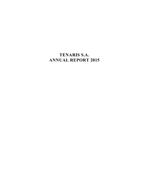 Tenaris   annual report