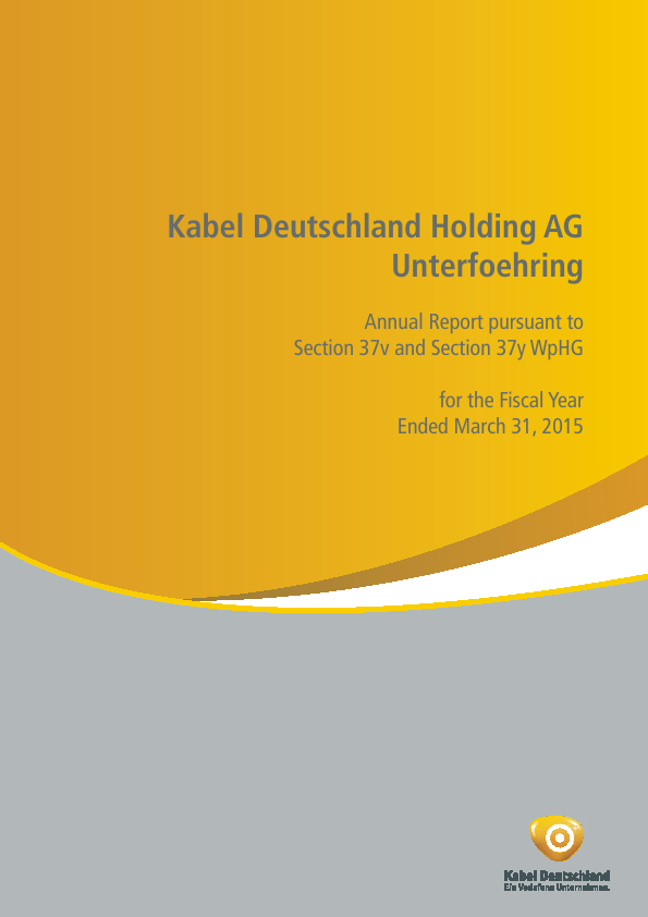 Kabel Deutschland   annual report