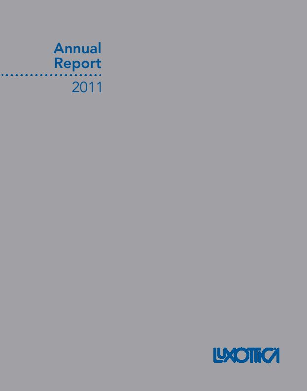 Luxottica   annual report