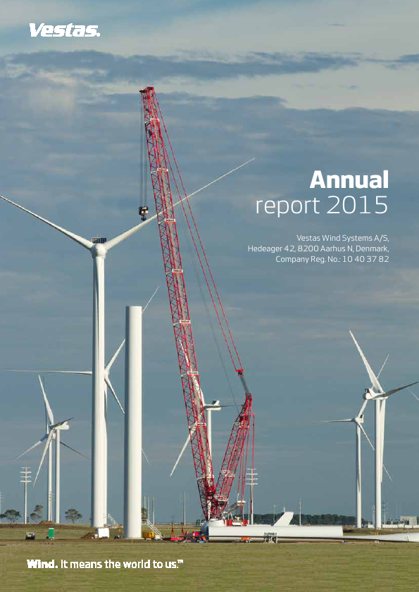 Vestas Wind Systems   annual report