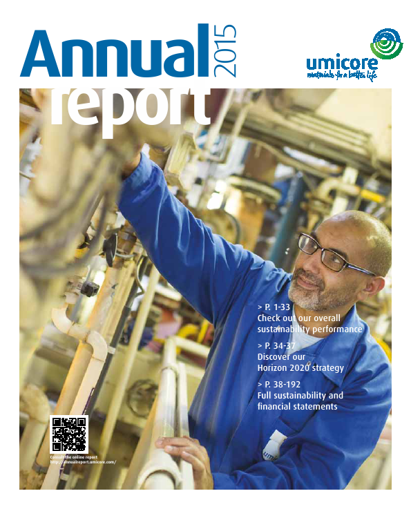 Umicore   annual report