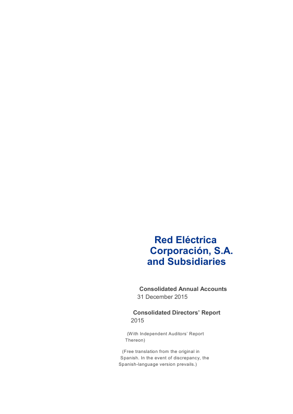 Red Electrica   annual report