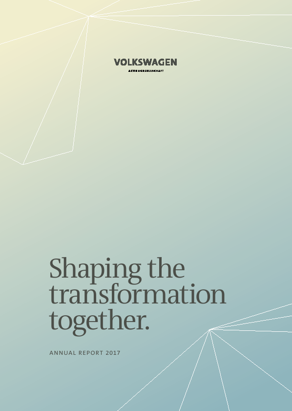 Volkswagen AG   annual report