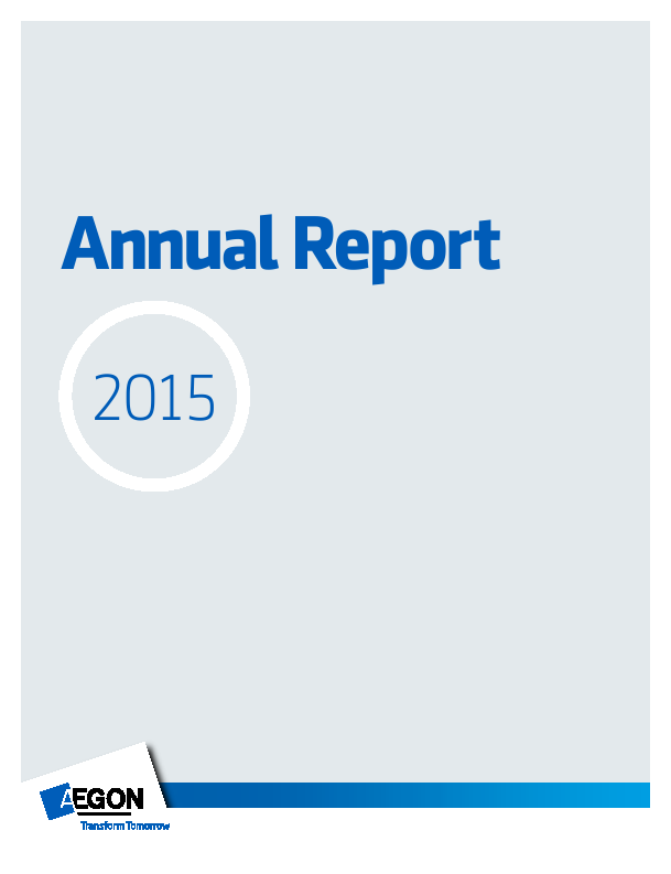 Aegon   annual report