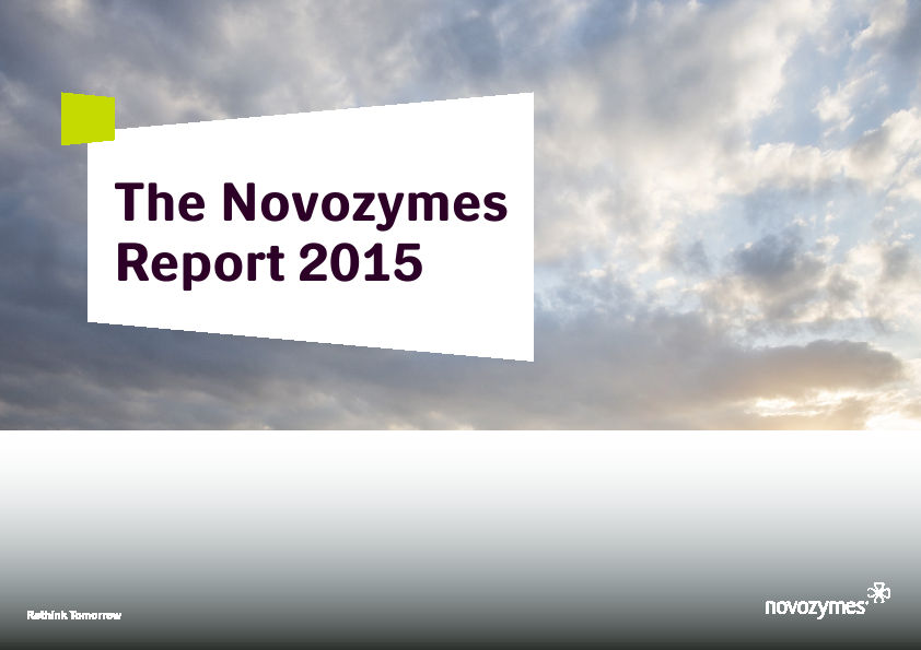 Novozymes   annual report