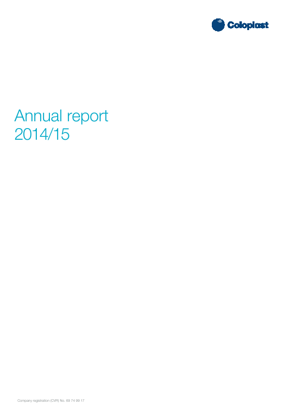 Coloplast   annual report