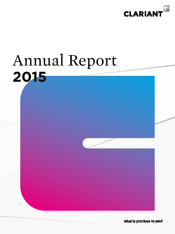 Clariant   annual report