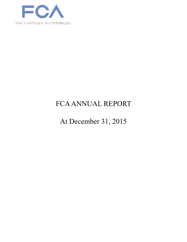 Fiat Chrysler Automobiles   annual report
