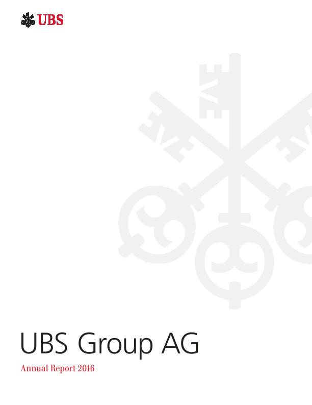 UBS Group   annual report