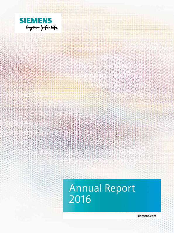 Siemens   annual report