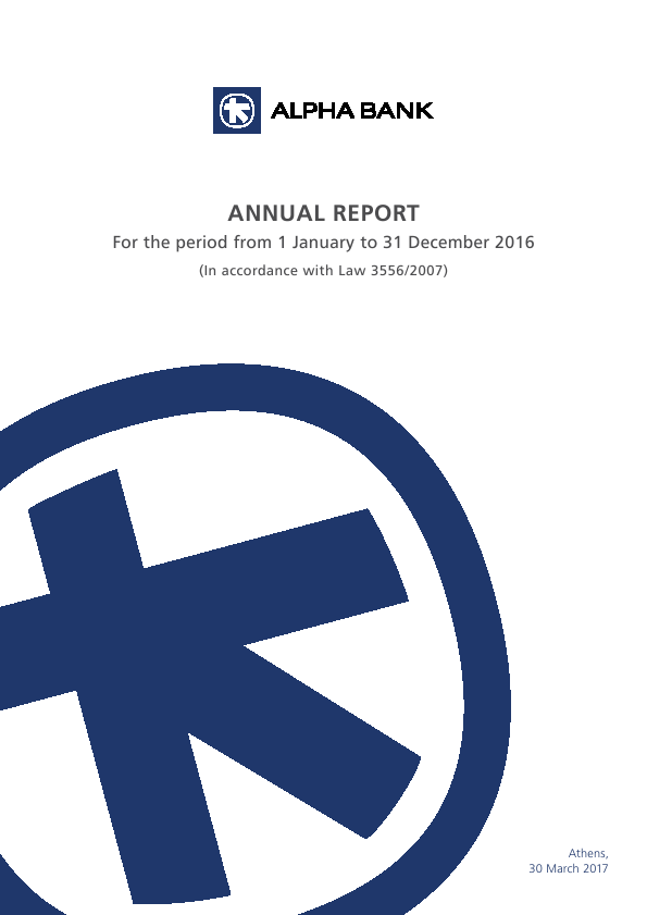 Alpha Bank   annual report