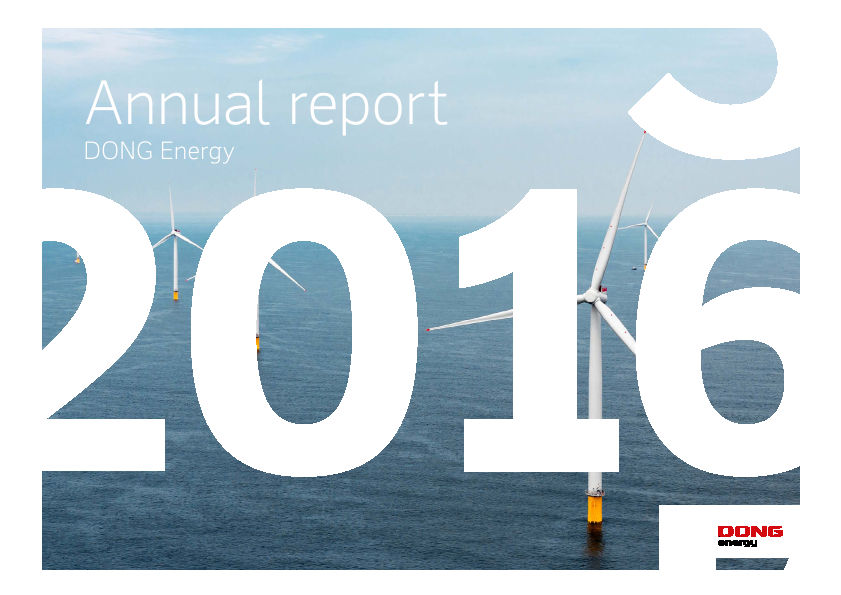 Dong Energy   annual report