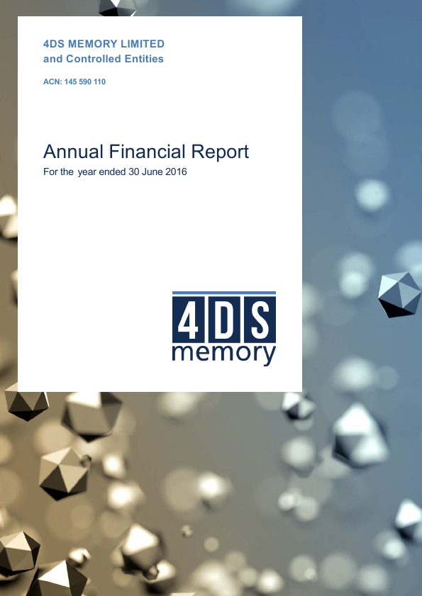 4DS Memory   annual report