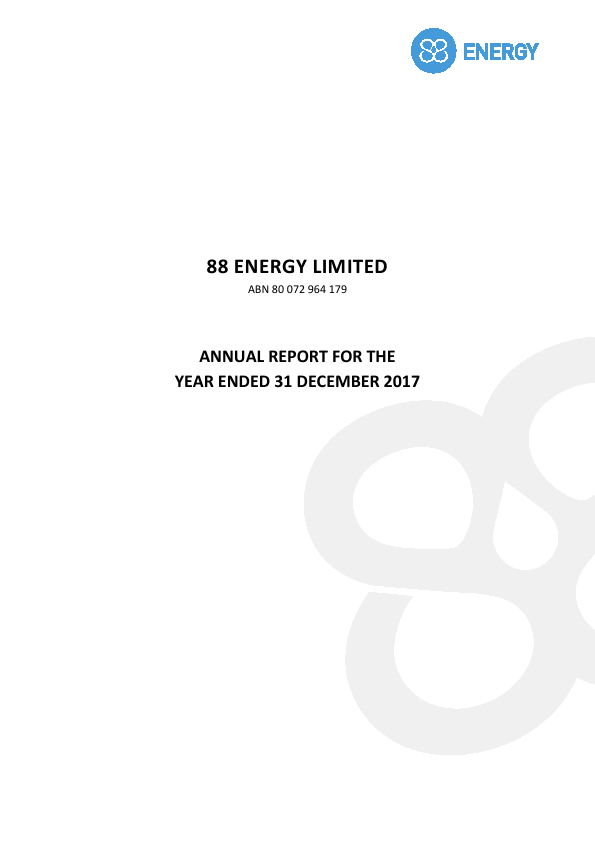88 Energy   annual report
