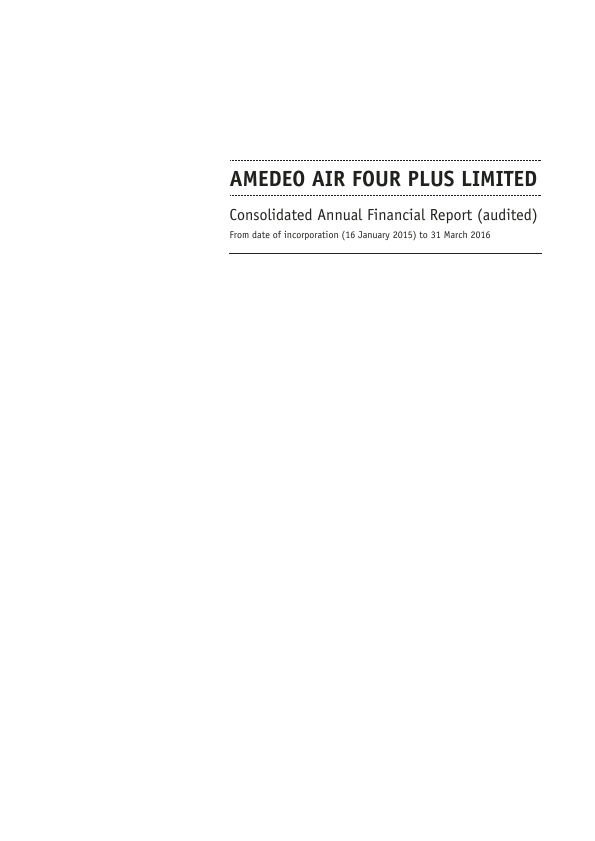 Amedeo Air Four Plus   annual report