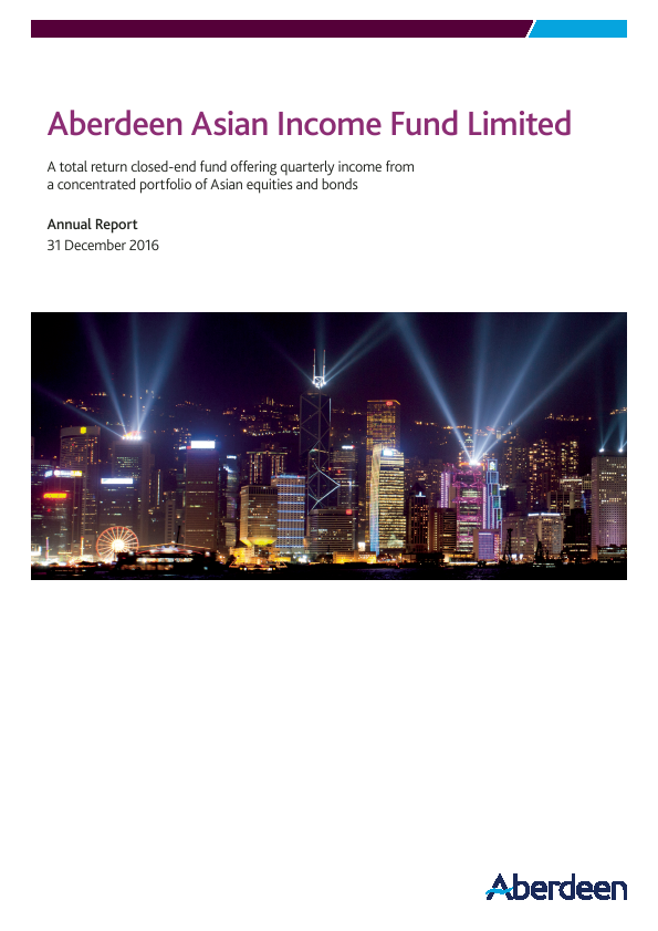Aberdeen Asian Income Fund   annual report