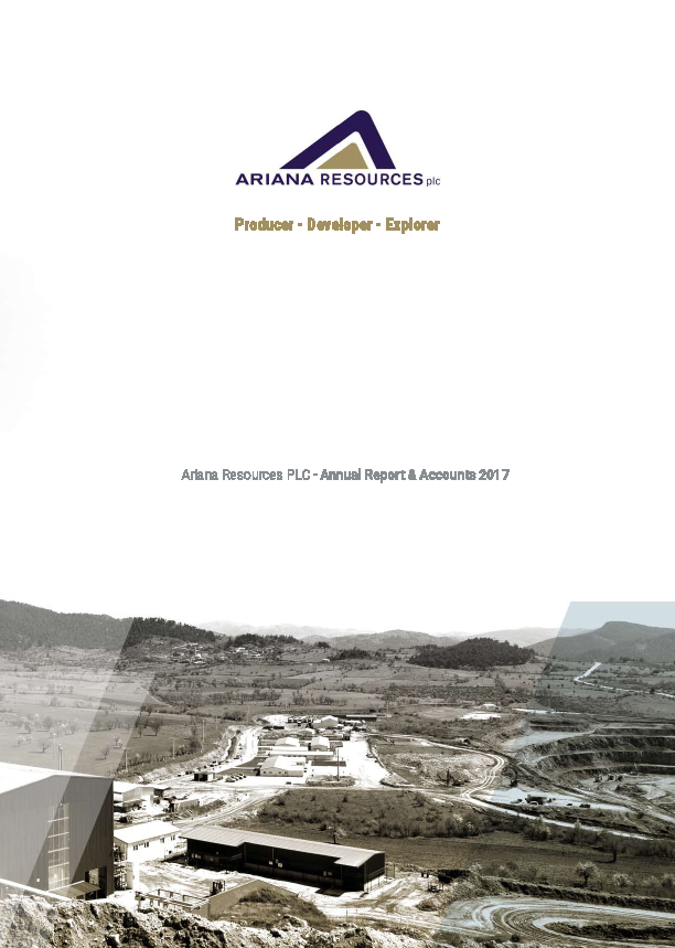Ariana Resources   annual report