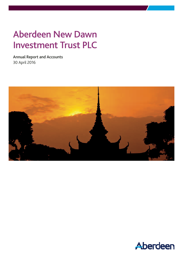 Aberdeen New Dawn Investment Trust   annual report