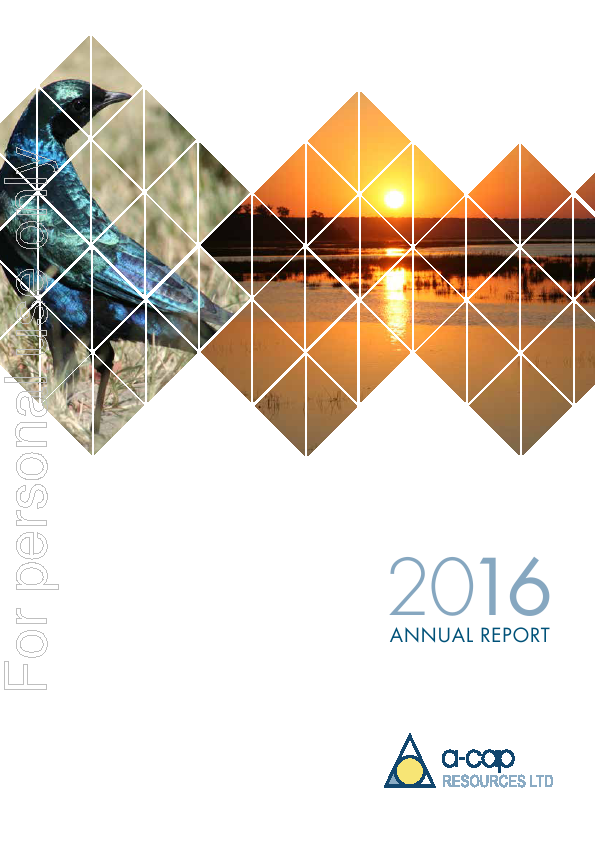 A-CAP Resources   annual report