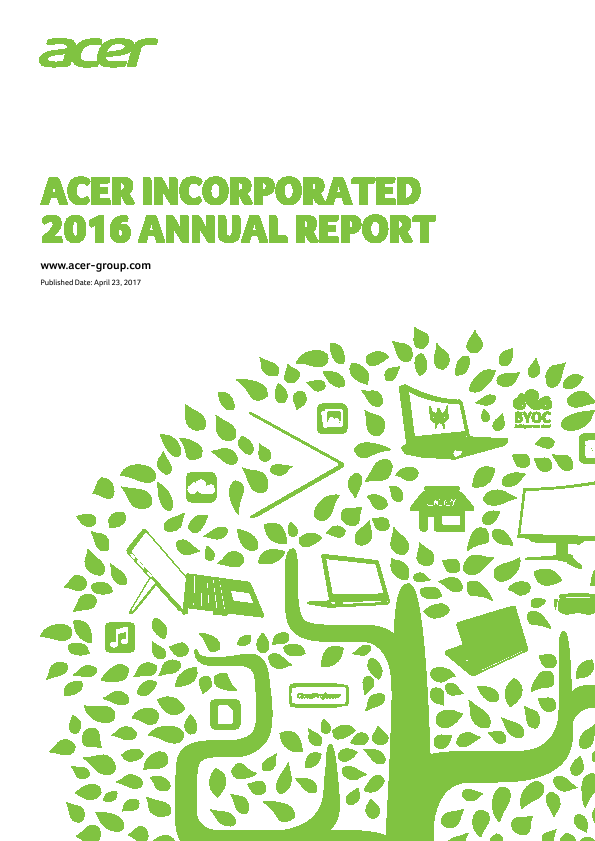 Acer Inc   annual report
