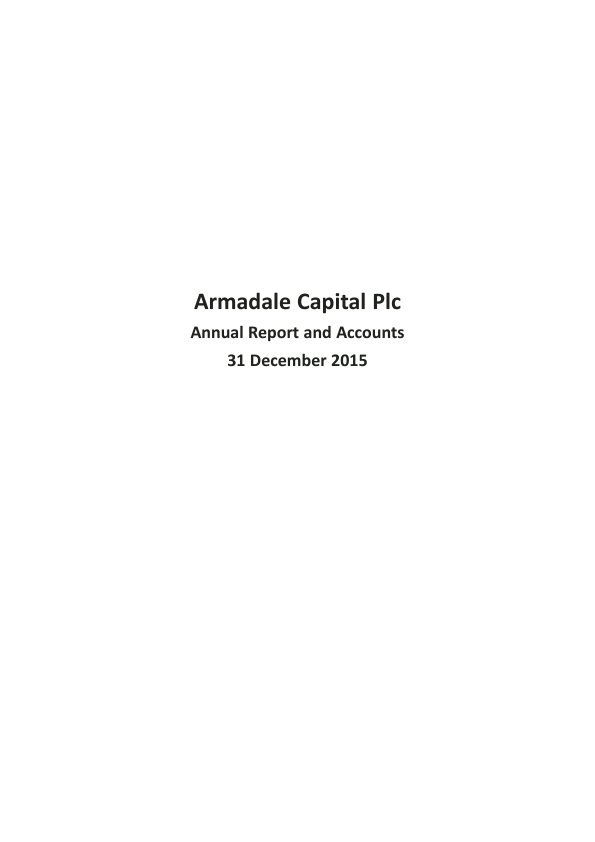 Armadale Capital Plc   annual report