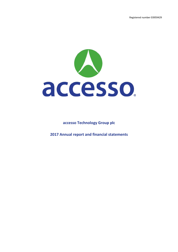 Accesso Technology Group Plc   annual report