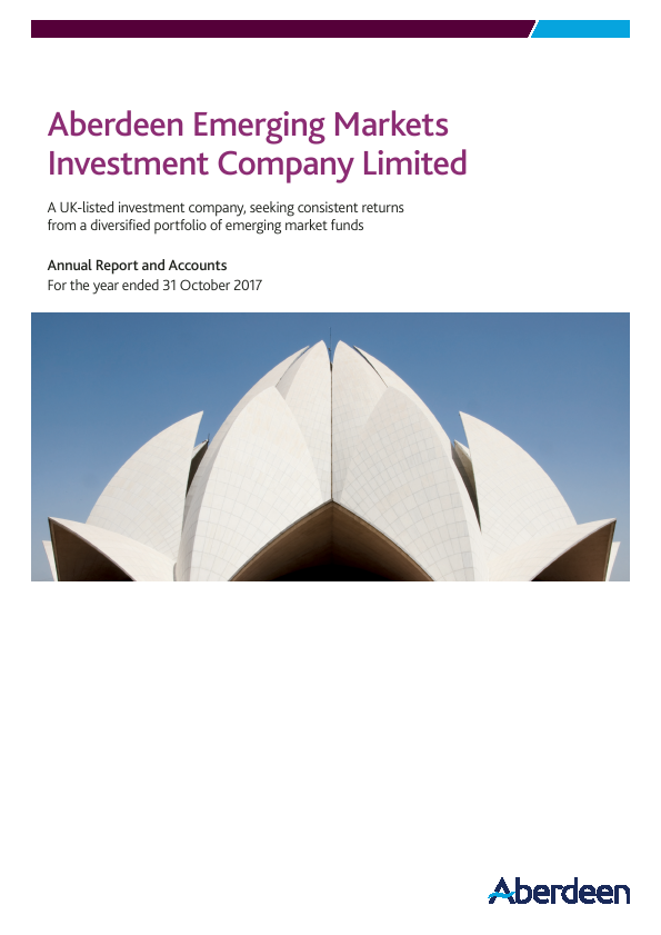 Aberdeen Emerging Markets Investment Company Limited (formally Advance Developing Markets Fund )   annual report