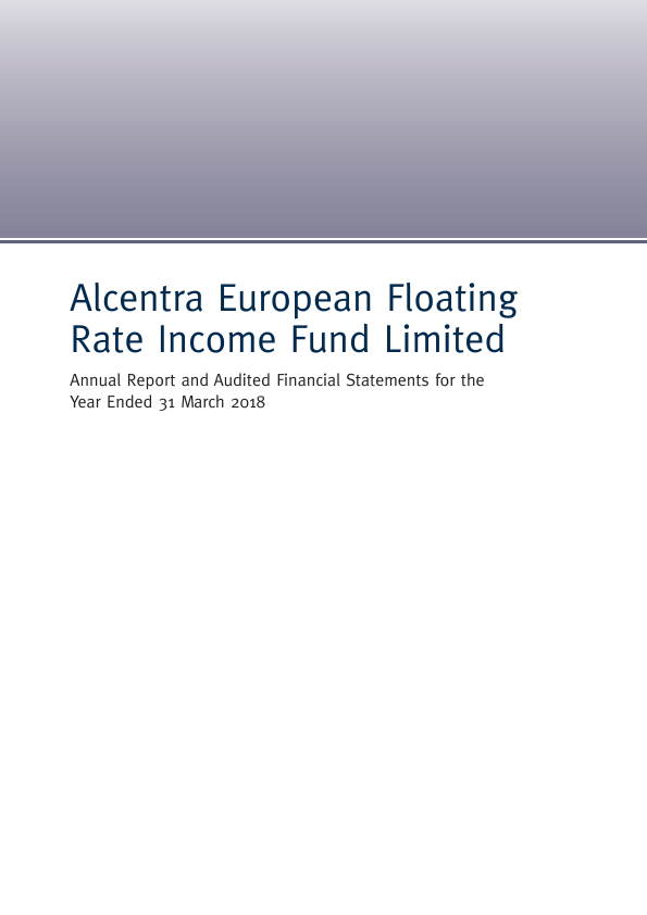 Alcentra European Floating Rate Income Fund   annual report