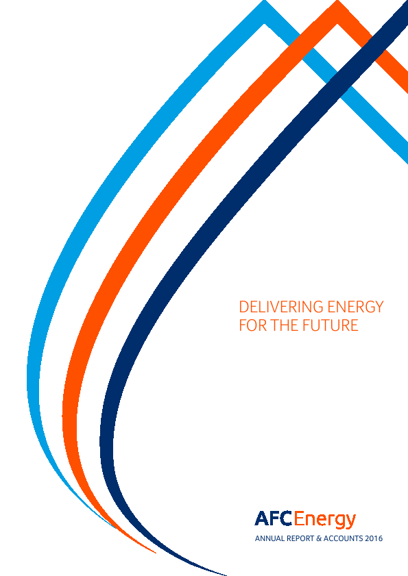 AFC Energy Plc   annual report
