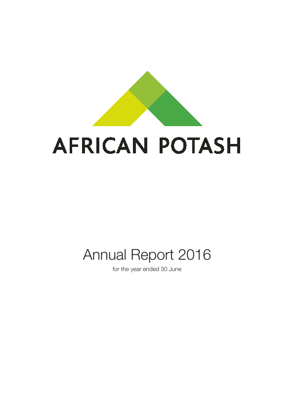 African Potash Limited   annual report