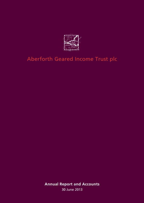 Aberforth Geared Income Trust Plc   annual report