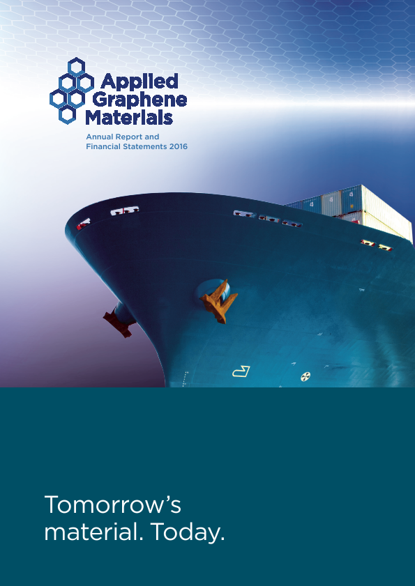 Applied Graphene Materials Plc   annual report