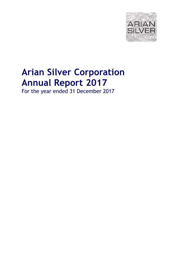 Arian Silver Corp   annual report
