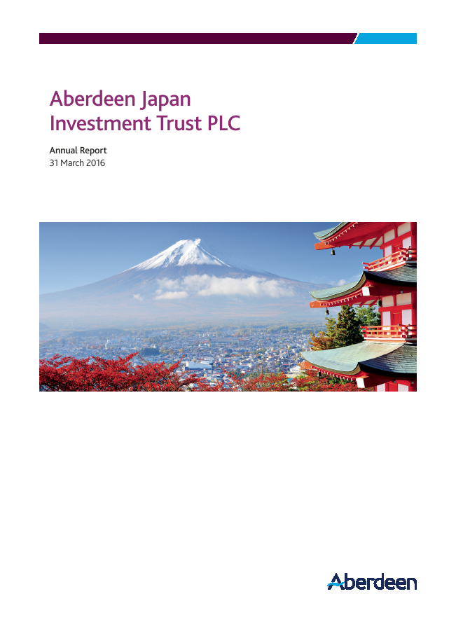 Aberdeen Japan Investment Trust Plc   annual report