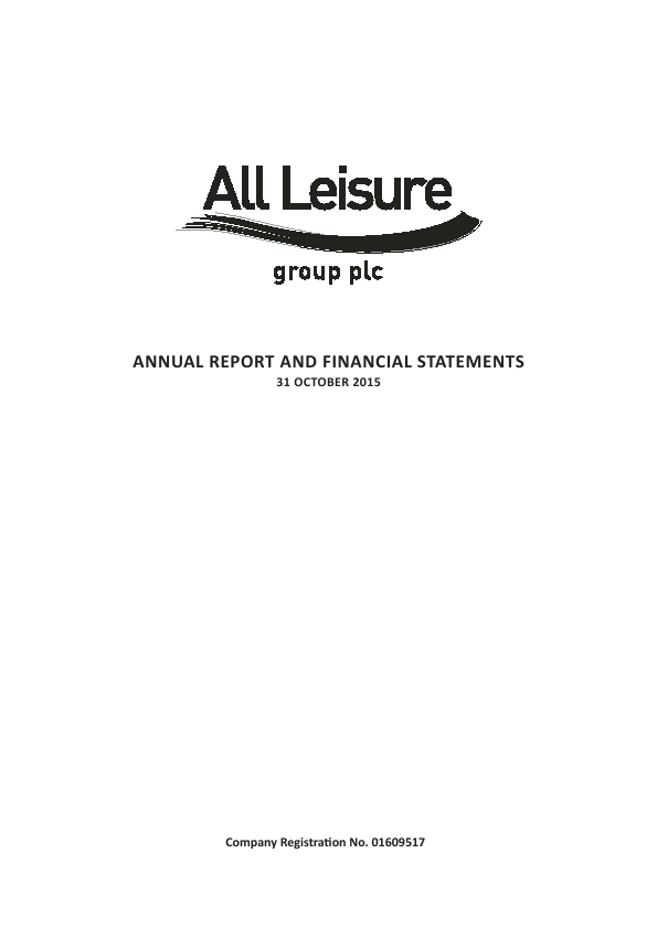 All Leisure Group Plc   annual report