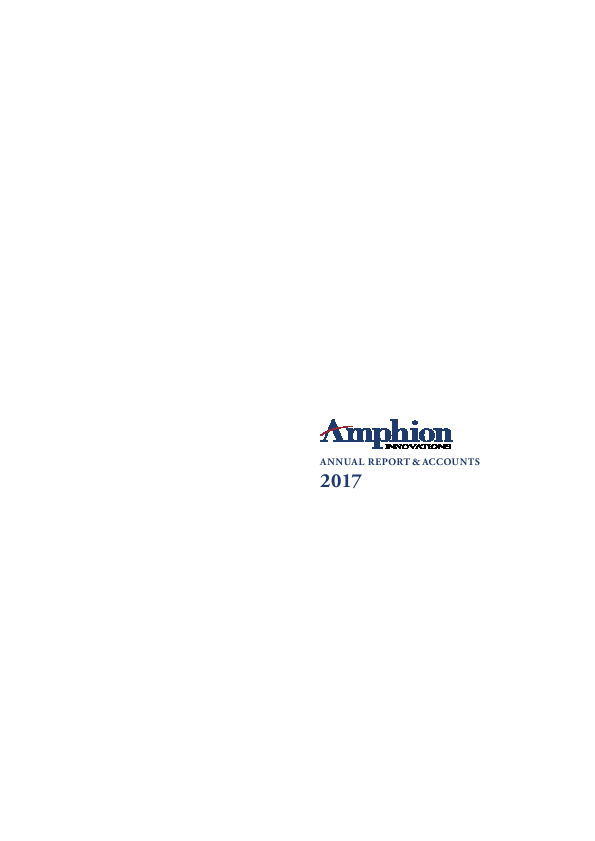 Amphion Innovations Plc   annual report