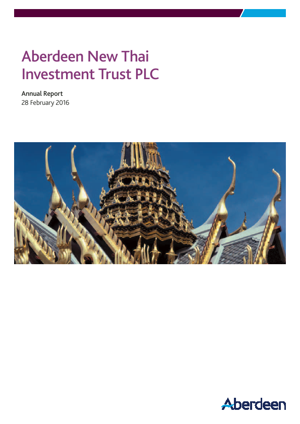 Aberdeen New Thai Investment Trust   annual report