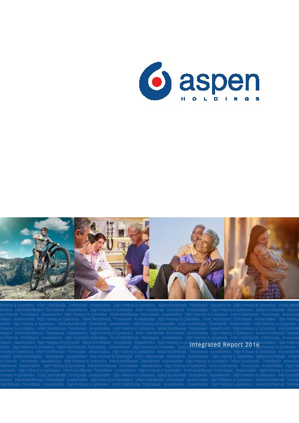 Aspen Pharmacare   annual report