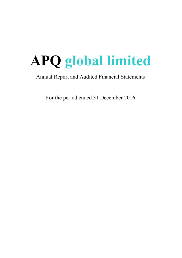 APQ Global   annual report