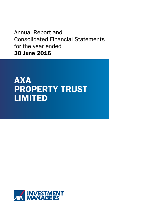 Axa Property Trust   annual report