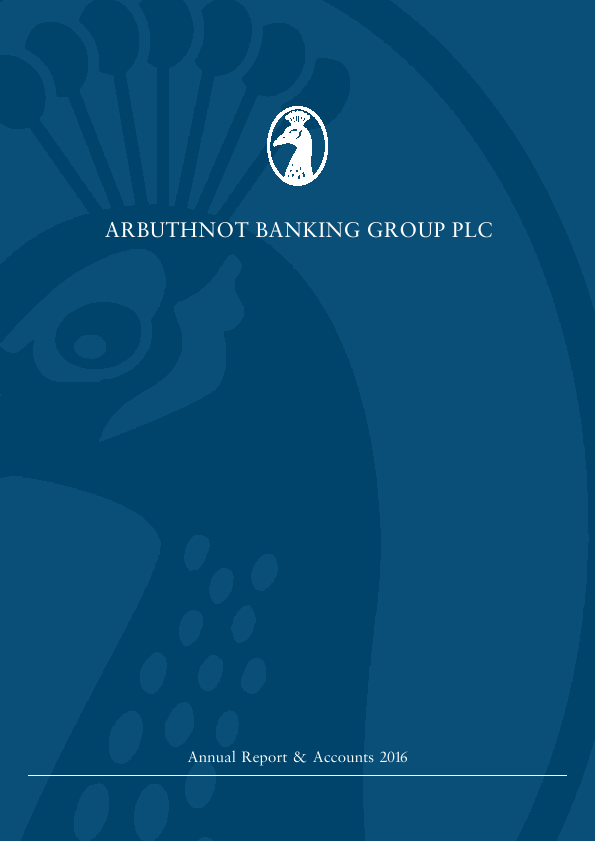 Arbuthnot Banking Group Plc   annual report