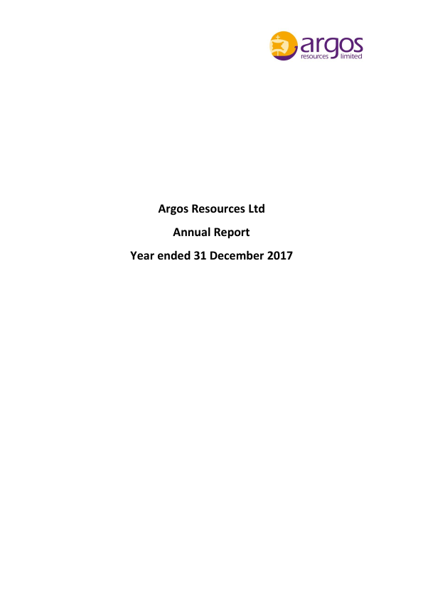 Argos Resources   annual report