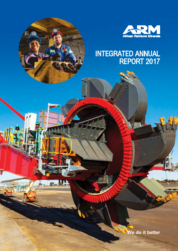African Rainbow Minerals   annual report