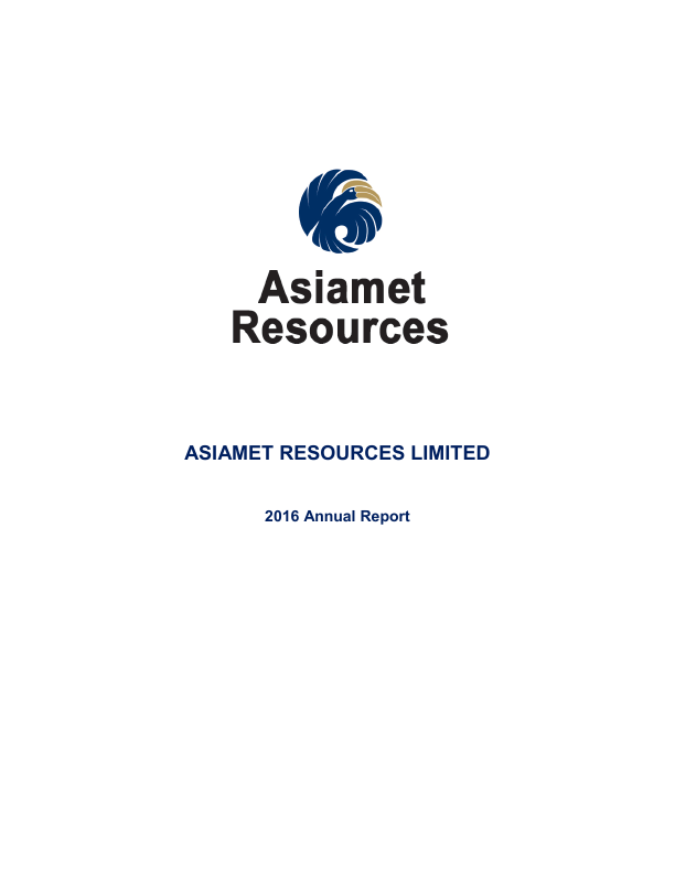 Asiamet Resources Ltd   annual report