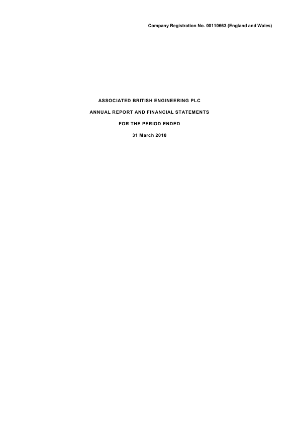 Associated British Engineering   annual report