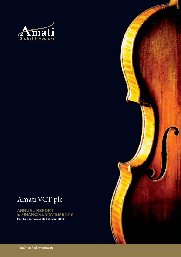 Amati VCT Plc   annual report