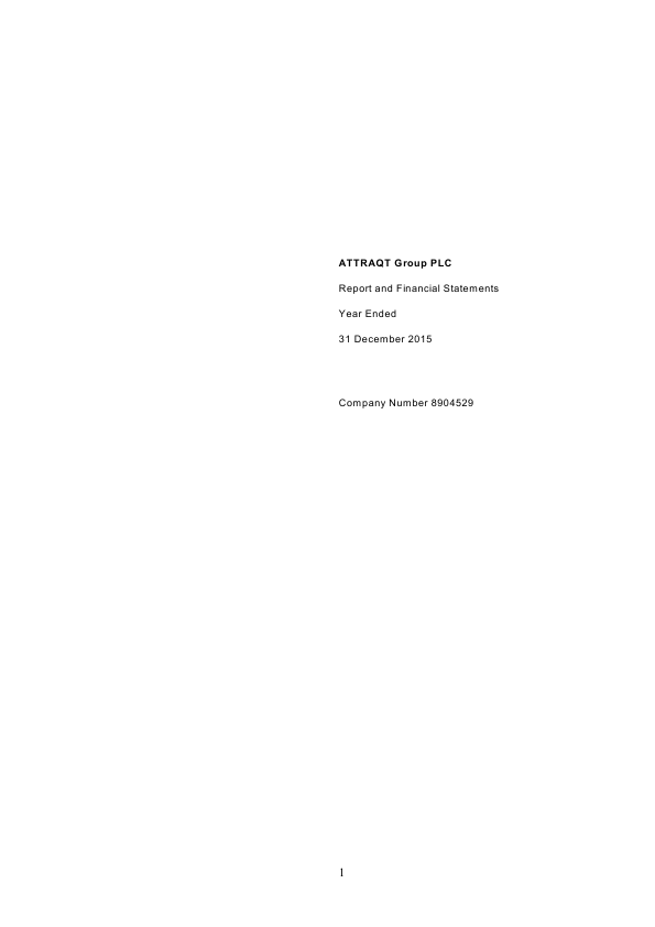 Attraqt Group Plc   annual report
