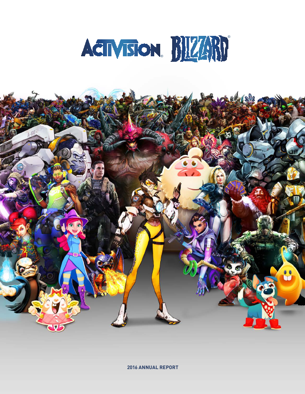 Activision Blizzard Incorporated   annual report