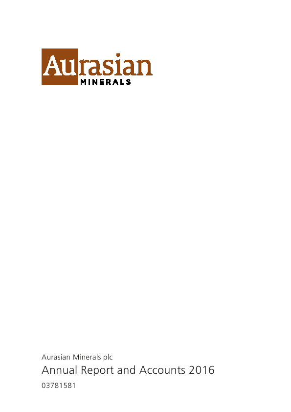 Tethyan Resources (previously Aurasian Minerals)   annual report